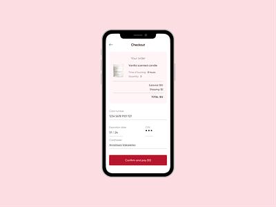 Daily UI 002 - Credit Card checkout checkout shop candle design dailyuichallenge figma dailyui