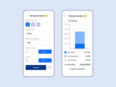 Daily UI 004 | Savings calculator design ui figma calculator ui calculator savings mobile ui dailyuichallenge dailyui