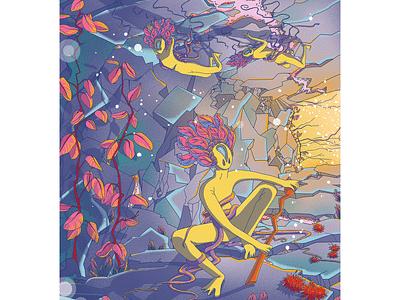 Pirshi s world. Bedtime illustration