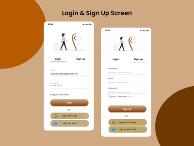 UI/UX Design - Login & Sign Up Find Apps sign up login website inspiration ui app design mobile design mobile app design design app