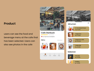 UI/UX Design - Product Find Cafe Mobile Apps desain cafe desain mobile find cafe product ui mobile design mobile app design app design design app