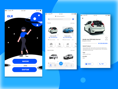 UI Design Mobile Apps - Redesign OLX design inspiration apps mobile mobile apps design mobile apps marketplace indonesia redesign e commerce