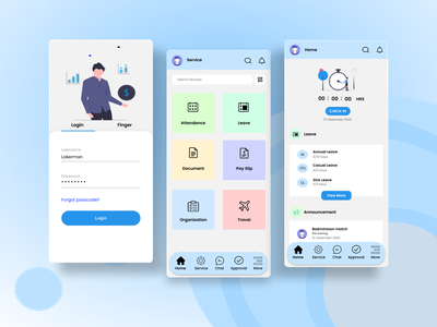 UI Design - HR Mobile Apps design hr software hr mobile apps hr mobile apps mobile apps human resource mobile apps human resource ui human resource hr