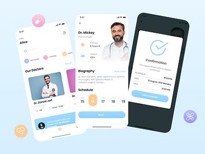 Medical Mobile App doctor app doctor medical app ui medical mobile