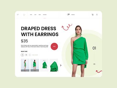 E-commerce concept card ui e commerce