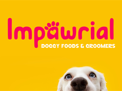 Impawrial dog Branding Concept logo design logo branding illustration design