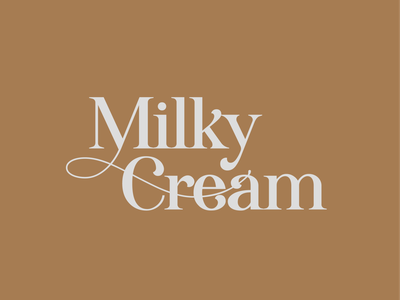 Milky Cream Ice cream & Waffle Bar Logo & Branding logo design logo branding illustration design