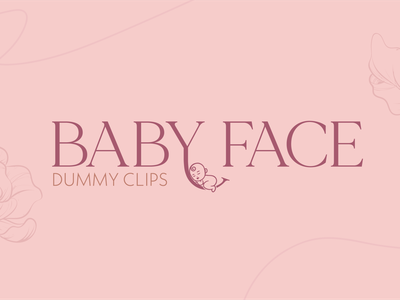 Baby Face Dummy Clips Logo Design logo design logo branding illustration design
