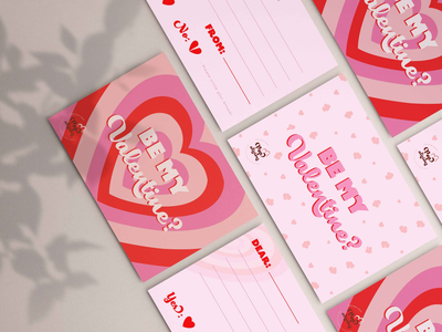 Valentines Card Designs for Popalicious logo design brand design digital art valentine carddesign brand designer graphic design branding illustration design