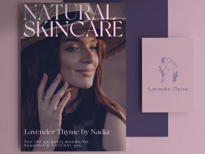 Lavender Thyme Natural Skin Care by Nadia Logo & Branding skincare design skincare branding skincare skincare logo nature lavender skincare branding lavender branding lavender logo line art branding natural branding beauty logo beauty branding natural design