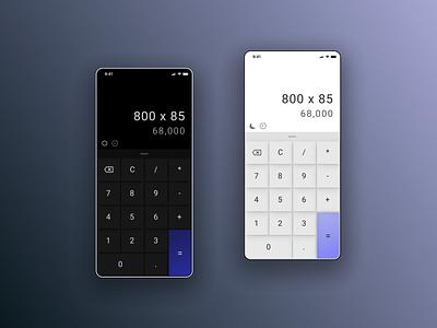 Calculator - Daily UI 004 ui calculator 004 design dailyui