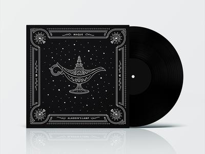 Aladdin's Lamp / Maque 2018 trends design abstract logic plate black music album poster line art illustration maque lamp aladdin