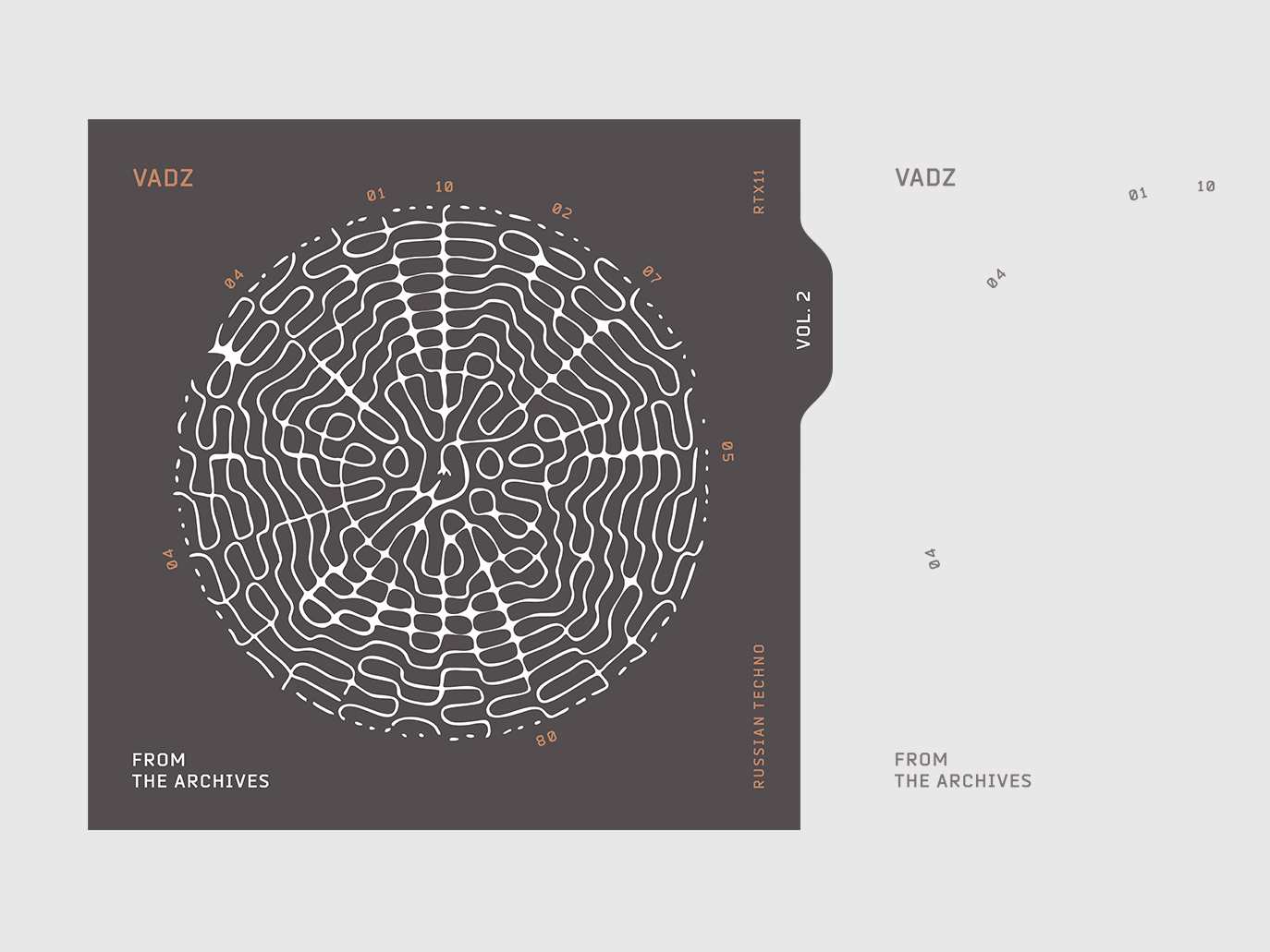 VADZ From the archives vector illustration minimal line waves sound music cover