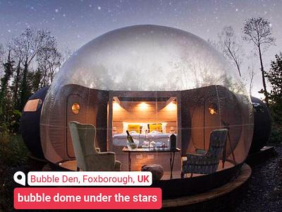 bubble dome | bubble den, fox-borough, UK | www.radar361.com hotel booking بلیط هواپیما هتل hotel sightseeing branding travel agency travel