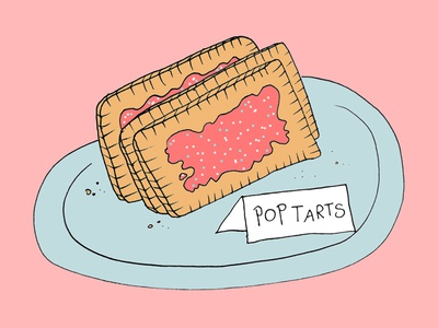 Pop Tarts  brooklyn coffee pop tarts illustration
