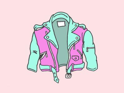 Retro Jacket illustration vintage jacket leather