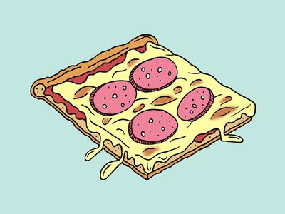 Thin Crust Pizza illustration pizza