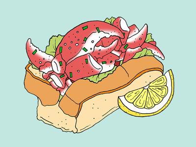 Lobster Roll food illustration lobsterroll lobster