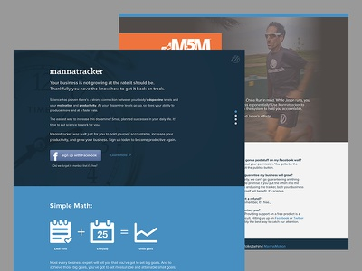 Mannatracker Landing Page web web app icons rwd simple math