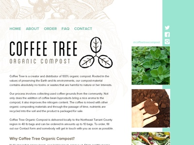 Coffee Tree Organic Compost - student website student project high schooler student organic coffee compost web freebie