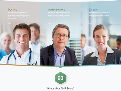 What's your AMP Score? yikes gradients and shadows web website ui medical doctor hospital