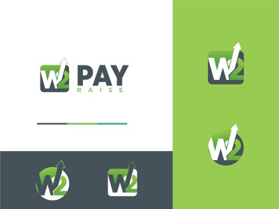 W2 Pay Raise vector logo consultancy initial logo finance logo