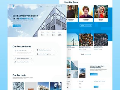 Konsool - Holding Company Website web uidesign web design website holding company holding website design ui landingpage blur elegant modern