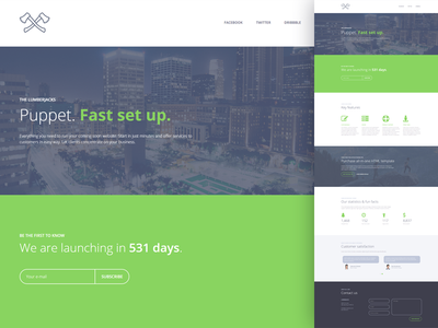 Puppet - Minimal Responsive Coming Soon Template