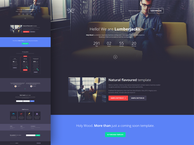 Holy Wood - Responsive Coming Soon Template ajax bootstrap coming soon html icons landing page mailchimp minimal responsive slideshow under construction video