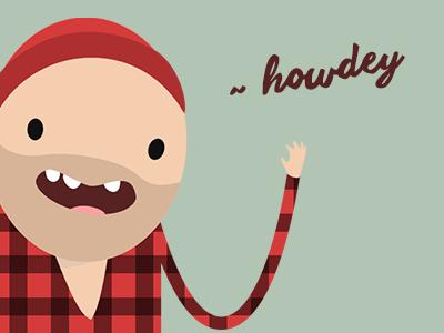 Hijack flat branding cartoon graphic illustration logo lumberjacks icon vector