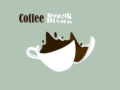 Coffee Break cup coffee vector lumberjacks logo illustration graphic cartoon branding flat