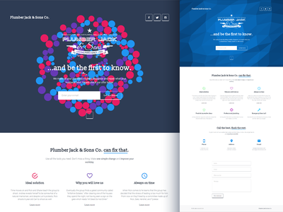 Plumber Jack - coming soon HTML template particle parallax coming soon html icons polygonal low-poly minimal responsive slideshow under construction video