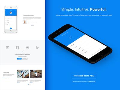 Beard - App Landing Page Wordpress Theme startup responsive one page mobile minimal wordpress landing page html corporate clean business app