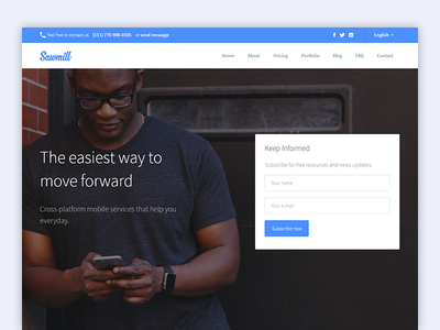 Sawmill - Responsive Landing Page Wordpress Theme