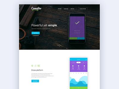 Campfire - Responsive WordPress Landing Page Theme web startup wp css parallax responsive theme template wordpress landing page mobile app