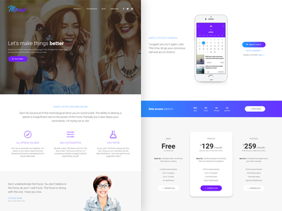 Moose - Modern Landing Page HTML Template app mobile landing page html template theme responsive css jquery startup web features