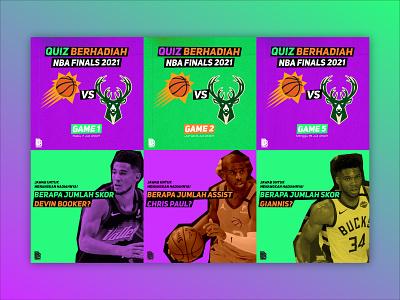 NBA Quiz ui banners branding design illustration brand identity instagram design branding design