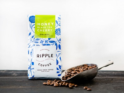 Ripple Coffee brand identity branding ripple coffee nicole lafave design womb illinois south carolina roasters floral packaging package design coffee