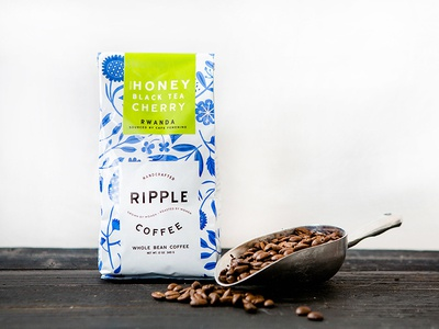 Ripple Coffee brand identity branding ripple coffee nicole lafave design womb illinois south carolina roasters floral packaging package design coffee