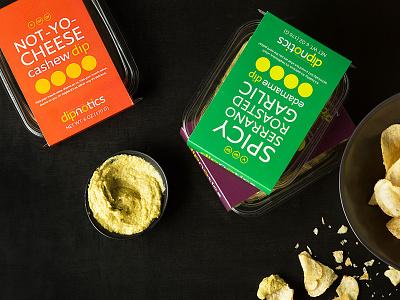 Dipnotics Packaging Design chicago san jose logo product sleeve dip food packaging packaging design brand identity branding