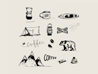 Mt Comfort Coffee Iconography
