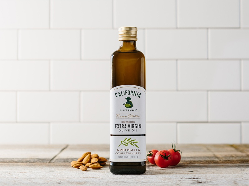 California olive ranch reserve olive oil package design