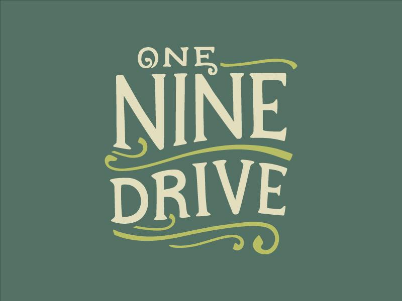 One nine drive indian american food truck logo design