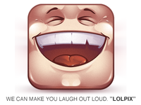 "iOs app icon ""LOLPIX"""