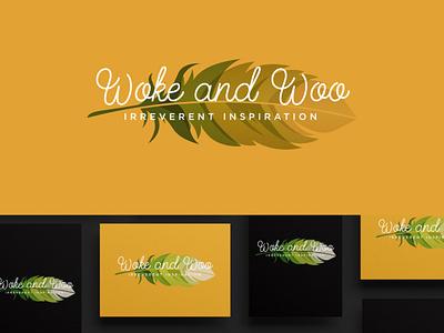 Woke and Woo signature feminine modern elegant minimalist branding creative logo typography creative design