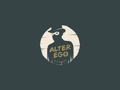 Alter Ego adobe illustrator professional creative logo badge logo illustration attractive icon modern minimalist branding typography creative design