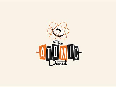 The Atomic Donut adobe illustrator illustration attractive icon modern minimalist creative logo branding typography creative design