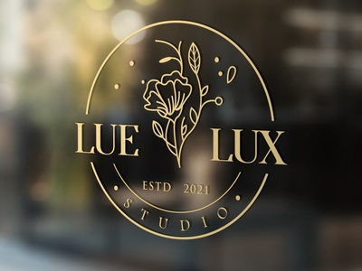 LUE-LUX brand identity icon badge creative logo adobe illustrator attractive modern minimalist branding typography creative design