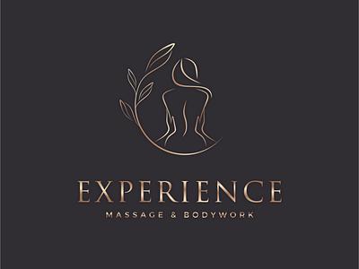 Experience (Massage & Bodywork) adobe illustrator icon attractive modern minimalist creative logo branding typography creative design