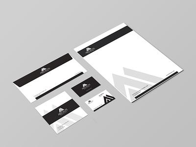 Absolute Stationary Design minimal design attractive modern typography creative design luxury coporate businesscard letterhead envelope brand identity branding stationary